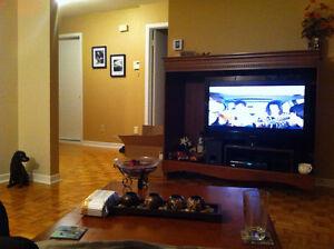 Meuble tv avec tables de salon