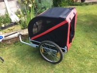 Bicycle trailer for dog