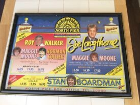 Comedy theatre poster framed