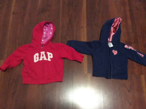 2 12-18 month hoodies