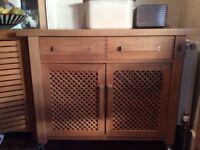 Wooden Kitchen Floor Standing Cabinet on Wheels.