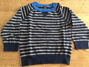 Baby Gap Navy/Grey Striped Sweater, size 2T