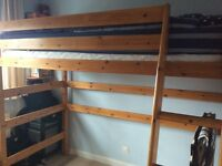 Solid pine John Lewis high sleeper bed