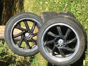4 Tires and Rims that fit a Nissan Altima car