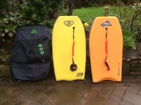PAIR OF PRO BODYBOARDS WITH DOUBLE STORAGE BAG