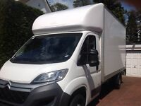 Man and Large Luton Van with Tail-Lift for Removals Deliveries Sofas Office Moves and Piano Moves