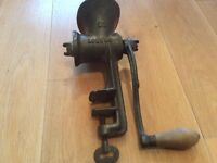 Truly vintage antique table top hand mincer