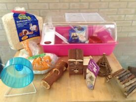 Hamster Cage and accessories as shown