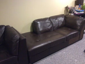 Oakdale 3 piece Genuine Leather Sectional
