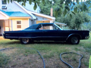 Blue 1967 Chrysler Newport Convertible
