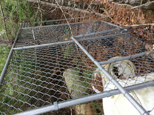 Gate and chain link fence