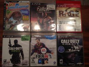 Plusieurs jeux PS3, 10$ chaque / 40$ pour les 5