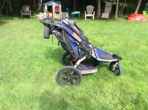 Double BOB stroller with adapter