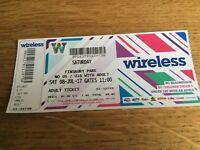 WIRELESS FESTIVAL - 1 adult tickets for Saturday