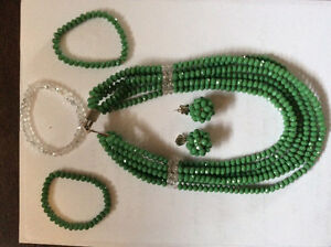 African beads necklace and earring set