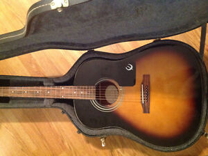Acoustic guitar and hard shell case
