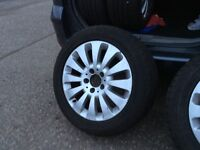 "4 x original Mercedes 16"" alloy wheels with Dunlop tyres"