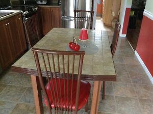 Set de cuisine et meuble pour foyer électrique en érable piquez