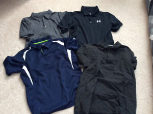Boys Under Armour and Hurley Golf Shirts