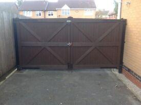 Heavy duty wooden driveway gates