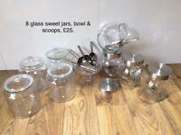 Wedding sweet glass jars