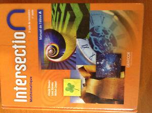 Intersection Mathématique, 1re année du 2e cycle, manuel A West Island Greater Montréal image 1