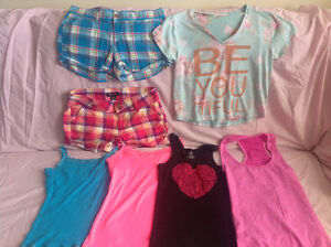 Women's 7 Item Clothes Lot Shorts and Tank Tops