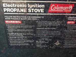 """Coleman"" electronic ignition Propane Stove 10,000 btu"
