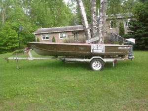 14ft Smoker Craft, 9.9 Evinrude and Trailer