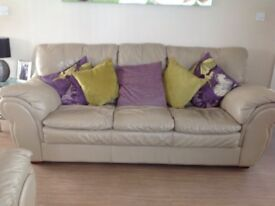 Leather sofas two and three seater