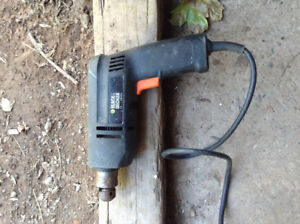 Black amd decker plug in power drill