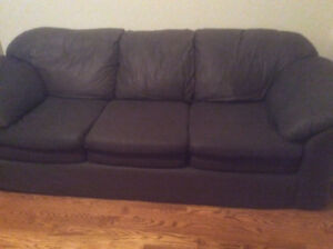 *Priced to Sell* Black Cloth Couch in Great Condition