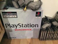 Playstation 1 consoles with loads of extras and top tier games