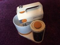 Vintage Kenwood Chefette with cover and instruction manual