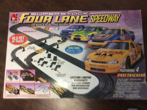 Four lane slot car race set