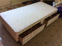 Single bed base with 2 draws