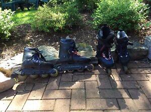 2 paires de patins roues alignées 1 homme et 1 femme +protecteur Saguenay Saguenay-Lac-Saint-Jean image 4