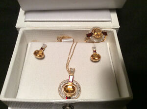 Garnet and Citrine Set