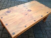 Solid Oak Jali Sheesham Coffee Table