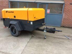 Ingersoll Rand 260cfm diesel road tow compressor shot sand blasting