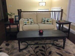 Vintage Hardwood Graphite Grey Distressed Coffee table SOLD PP