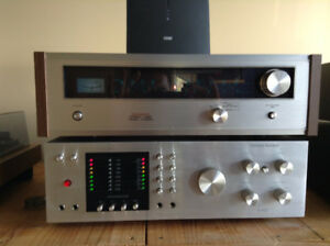 Vintage Harman Kardon A402 et Table tournante Technics SL B2