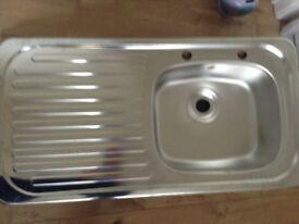 Utility inset sink - single bowl