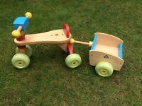ELC Wood trike and trailer