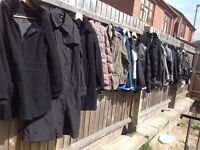 Wholesale joblot jacket used mixed & mixed sizes around 150 items £75 for all