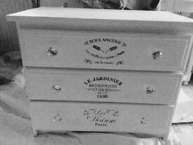Annie Sloan three chest of drawers