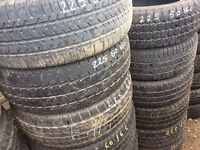 225/60/16c TYRE SHOP free fittings 225/60/16 used partworn tyres