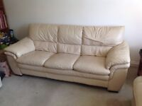 3 seater leather sofa - very clean