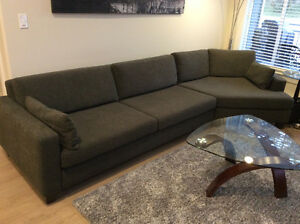 Custom two piece sectional