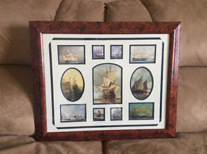 Historical Sailing Ships in a Beautifully Matted Frame